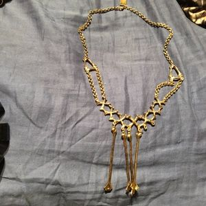 gorgeous gold tribal type necklace goth